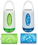 Munchkin Arm and Hammer Diaper Bag Dispenser, Green/Blue, 2 Pack
