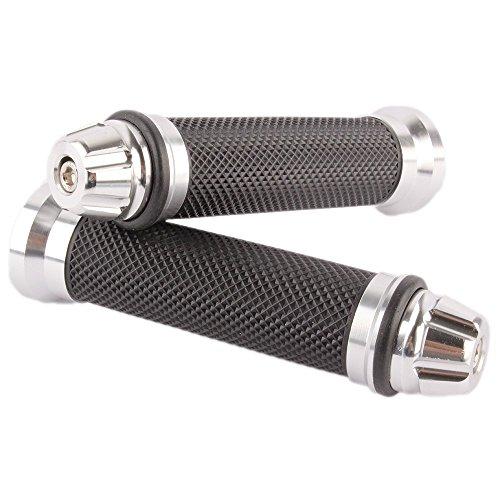 JMY Universal Motorcycle Aluminum Rubber Gel Handlebar Grips Bar End Caps for 7/8