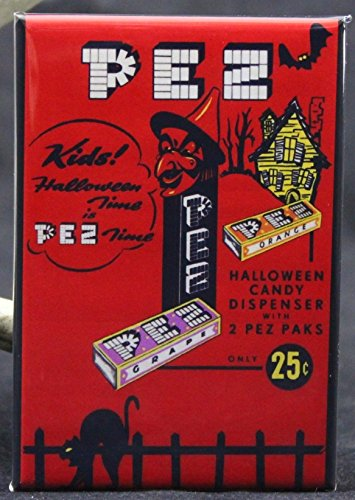 Pez Halloween Candy Ad Refrigerator Magnet. -