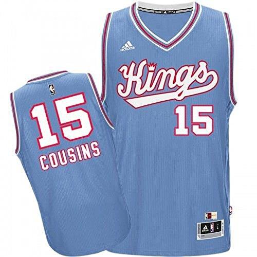 DeMarcus Cousins Sacramento Kings Hardwood Classics Adidas Swingman Jersey (Large) - Sacramento Kings Jersey