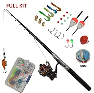 Carbon fiber pen fishing rods and spinning for Amazon fishing gear