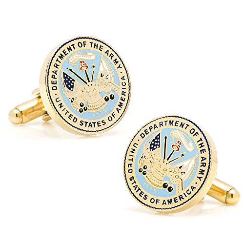 Cufflinks Inc. Men's Us Army Logo Cufflink, Gold/Blue, One Size