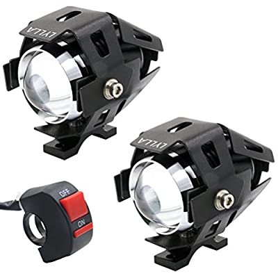 LYLLA CREE U5 LED Lamp Headlight Fog Light Spotlight for Motorcycle/ATV/Truck w/ON/OFF Switch Button (Pack of 2): Automotive