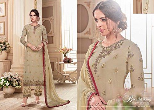 pakistano designer vestito pant designer indiano salwar EMPORIUM casual suit kameez straight 2689 ETHNIC abito donne ag0nTqfnx