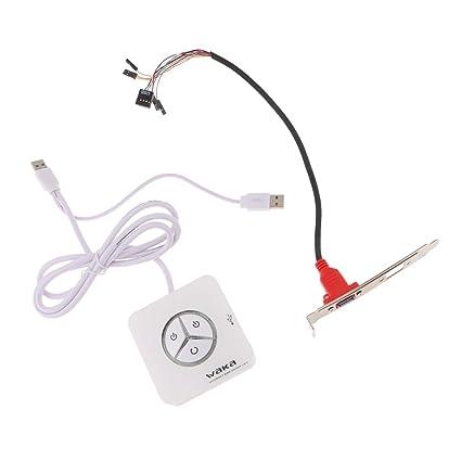 Sharplace Interruptor Botón Fuente Alimentación Ordenador Complimentos Equipado con Botón de Encendido Apagado