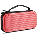 Gamemyse Traveling Carry Case Compatible Nintendo Switch Protective Portable Case 10 Card Storage Holders Design for Nintendo Switch Console & Accessories - Rose Red