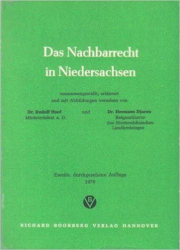 Das Nachbarrecht In Niedersachsen Amazon Co Uk Rudolf Hoof