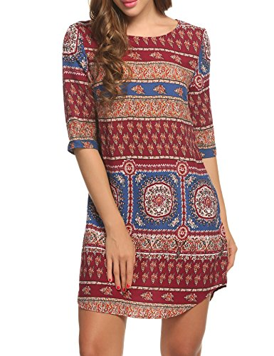 acevog-womens-vintage-printed-ethnic-style-loose-casual-tunic-dress-red-s
