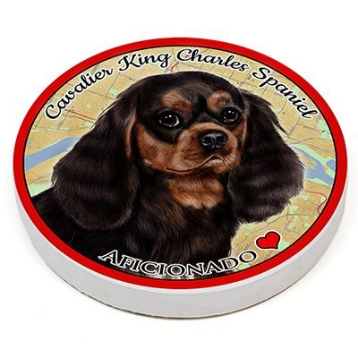 (Cavalier King Charles Spaniel Black And Tan) Pet Gifts Coaster Buddies, Dogs & Cats, Car & Truck Cup holder, Absorbant Ceramic, 2.65 Inch Size (Black And Tan King Charles Spaniel)