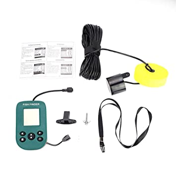 Amazon com: Vbestlife Portable Sonar Fish Finder, Handheld Wired