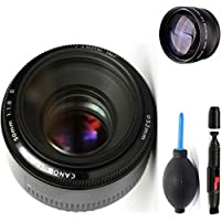 Canon 50mm 1.8 II Lens + High Definition Telephoto Auxiliary Lens + Deluxe Lens Cleaning Pen + Deluxe Lens Blower Brush