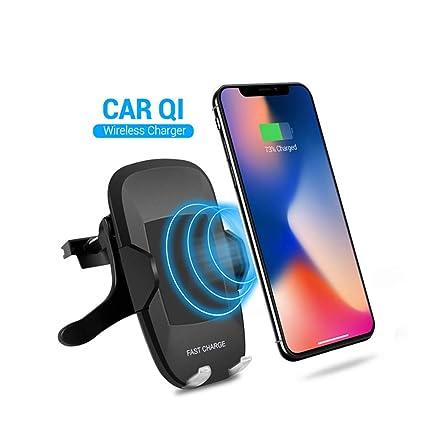 Cargador Inalámbrico Coche, soporte para teléfono móvil 5W ...