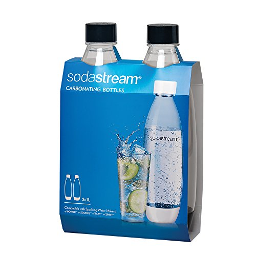 SodaStream Black 1L Slim Carbonating Bottles Twin