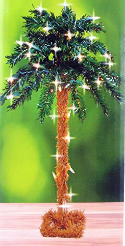 18 lighted palm tree artificial 35 lights electric table top - Palm Christmas Tree