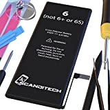 #7: ScandiTech Battery Model iP6 - Replacement Kit with Tools, Adhesive & Instructions - New 1810 mAh 0 Cycle Battery - Repair Your Phone in 15 min - 1 Year Warranty
