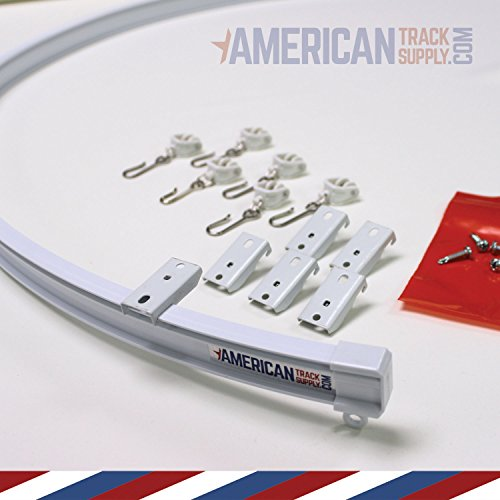Curtain and Drapery Ceiling Track Set with Hooks - 3 Meter (9.8 feet) of Track, Easily Cut to Size and Everything Included for Install by American Track Supply (Image #1)
