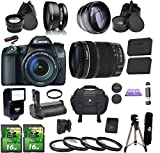 Canon EOS 70D + 18-135mm IS STM. PagingZone Kit Includes, Battery Grip + .43x Fisheye Lens + 2.2x Telephoto Lens + Case + Flash + 2 SD 16GB Card + Extra Battery + UV Filter + Tripod + Cleaning Kit