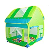 TRUEDAYS Kids Play Green Hut Outdoor Indoor Fun Play Big Tent Playhouse Pop Hut Play Pit Balls Pool#245