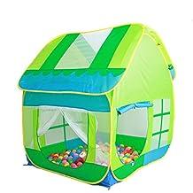 TRUEDAYS Kids Play Green Hut Outdoor Indoor Fun Play Big Tent Playhouse Pop Hut Play Pit Balls Pool#245
