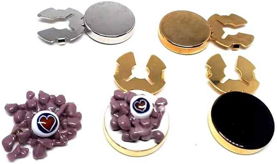 Artesanal 1 par de cubrebotones Art 22, 18 mm Granos y ...