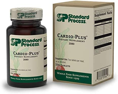 Standard Process - Cardio-Plus - Cardiovascular Supplement, Vitamin C, E, and B6, Riboflavin, Niacin, Selenium, Antioxidants, Supports Heart Health and Muscle Function - 330 Tablets