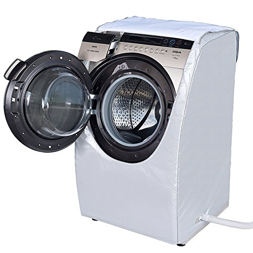 MyLifeUNIT Silver Front Load Washer Washing Machine Cover for Sanyo DG-L7533BCX(7.5kg) Type Washer