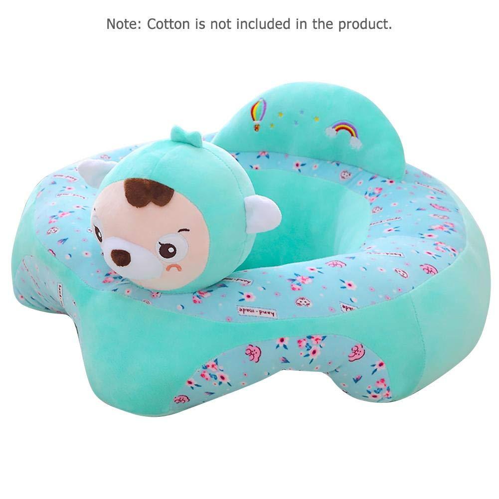 Sof/á de peluche para beb/é coj/ín de felpa para ni/ños y beb/és Blue Bear Talla:50 * 50cm // 19.7 * 19.7in sof/á extra/íble lavable asiento de beb/é con dibujos animados asiento de apoyo para beb/é