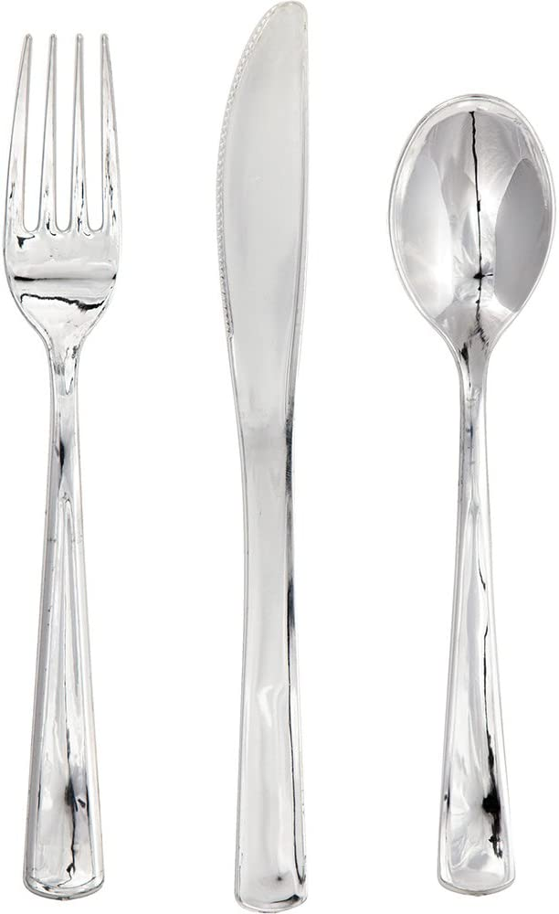 24 Silver Heavyweight Spoons Touch of Color Weddings Anniversary Birthday Party
