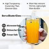 ZENS Double Walled Glasses,Unique Octagonal 13.5