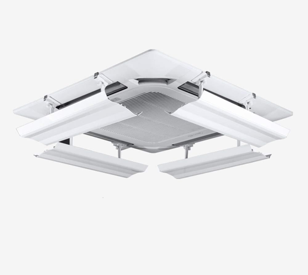 Deflettore del condizionatore d'aria per il condizionamento d'aria centrale del soffitto, impedisce l'aria fredda dal soffiare diritto, l'angolo regolabile, l'installazione facile, materia plastica l' angolo regolabile l' installazione facile Yingp