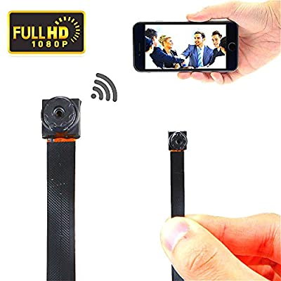 Wi-Fi HD Spy Mini Hidden Camera Spy Wireless Button Pinhole Auto Focus Camcorders 1080P Camera Finder Motion Detector Loop Video Day/Night Vision from JUNEO