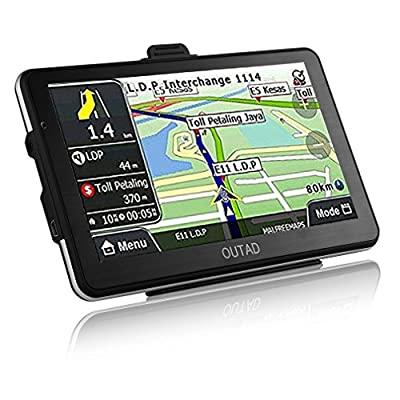 Car GPS Navigation, OUTAD 7-Inche Touchscreen Voice Reminding Vehicle GPS Navigator 8GB Navigation System with Lifetime Map and Car Charger