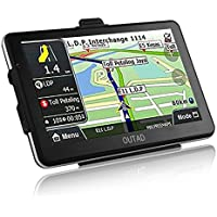 Car GPS Navigation, OUTAD 7-Inch Touchscreen Voice Reminding Vehicle GPS Navigator 8GB Navigation System with Lifetime Map and Car Charger (Black)