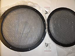 Pair 10 Inch Classic Beehive High Excursion Subwoofer Speaker Grills