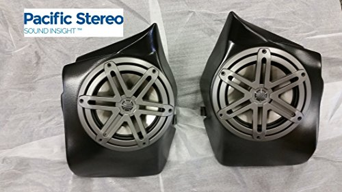 "SSV Works RZ3-RBP77-TB Custom Polaris Razr Rear Bed Pods Loaded With JL Audio 7.7"" Speakers"