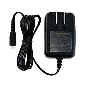 BlackBerry Folding Blade Micro-USB Charger for BlackBerry 8900, Storm 9530, Tour 9630, and Torch 9800 - Black