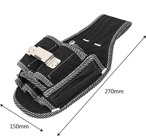 herramienta de carpintero iTimo DIYWORK destornillador Bolsillo de cintura para herramientas bolsa para cintur/ón taladro taladro