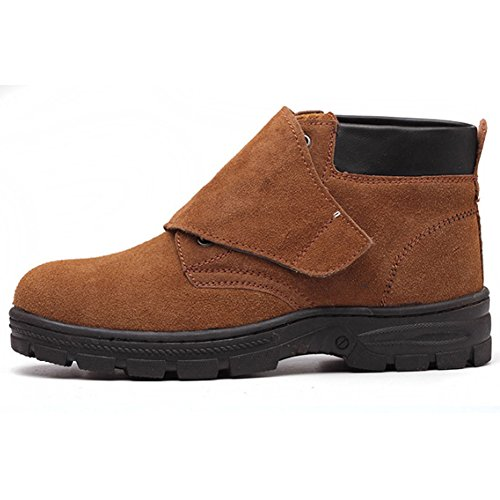 MAIERNISI JESSI Safety Shoes Suede Leather Welders Welding Safety Boots