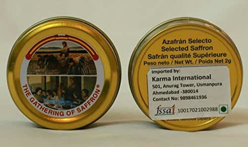 The Gathering of Saffron Brand Pure Spanish Saffron 2 Grams