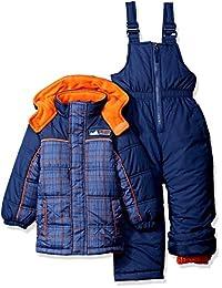 iXtreme Boys' Plaid W/ Pop Printed Snowsuit