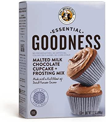 Baking Mixes: King Arthur Essential Goodness Malted Milk Chocolate Cupcake Mix