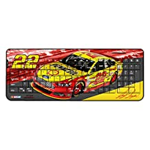 Joey Logano Wireless USB Keyboard officially licensed by NASCAR Full Size Low Profile Direct Print Plug & Play by keyscaper®