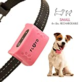 Floyd Small Dog Bark Collar For Tiny To Medium Dogs (6+ lbs). Rechargeable And Waterproof Anti Bark Training Device. Humane Way to Stop Barking - No Shock No Spiky Prongs!