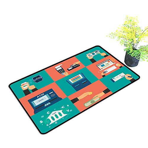 gmnalahome Super Absorbs Mud Doormat Flat Concept Payment Methods Such as Credit car Website nf No Odor Durable Anti-Slip W39 x H19 INCH