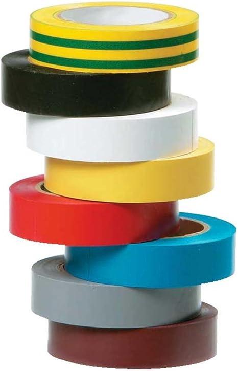 Cinta adhesiva Electricistas (rollo Pack de 8 colores: Amazon.es: Informática