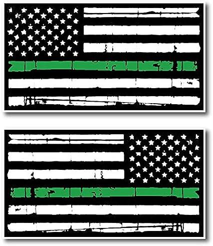 4 X THIN GREEN LINE UNION JACK FLAG VINYL CAR VAN IPAD LAPTOP STICKER