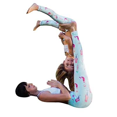 FENZL Mother Daughter Family Clothes Skinny Printed Stretchy Yoga Leggings Pants