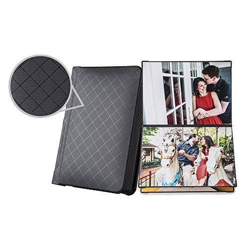 Professional Peel-and-stick Photo Album Book, Black 5x7 inches, 20 Pages and Lay-flat (Flush Mount Photo Albums)