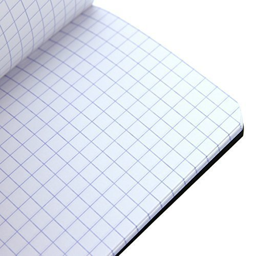 Rhodia Staplebound White Notebooks graph - 6 in. x 8 in, Pack of 5