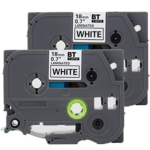 (2PK Onirii Compatible Brother p Touch Label Maker Tapes TZ241 TZe241 TZ-241 TZE241~3/4